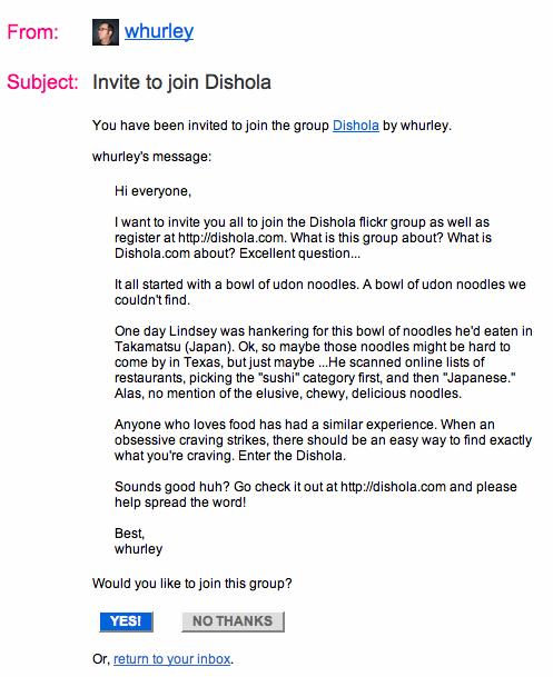 Flickr Invitation
