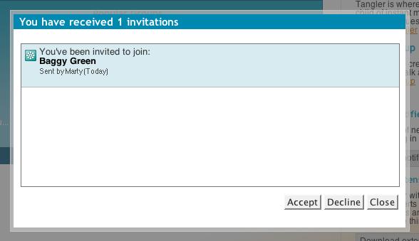 Tangler Invitation